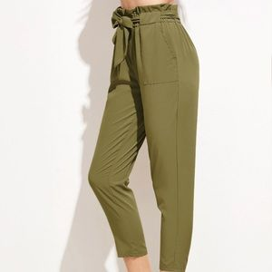 Ruffle Waist Belt Pants